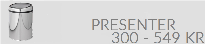 Presenter 300-549 kr.
